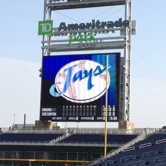 Photo taken at TD Ameritrade Park by Caryl T. on 4/3/2012