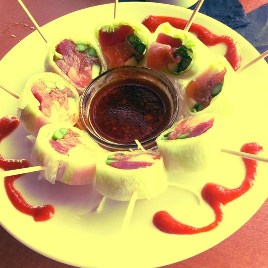 Photo taken at RA Sushi by Ally on 6/2/2012