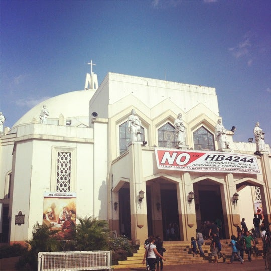 Photo taken at National Shrine of Our Lady of Peace and Good Voyage (Antipolo Cathedral) by Tzaddi C. on 4/5/2012
