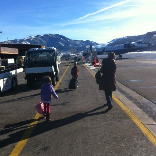 Photo taken at Aspen/Pitkin County Airport (ASE) by Geoff G. on 1/10/2012