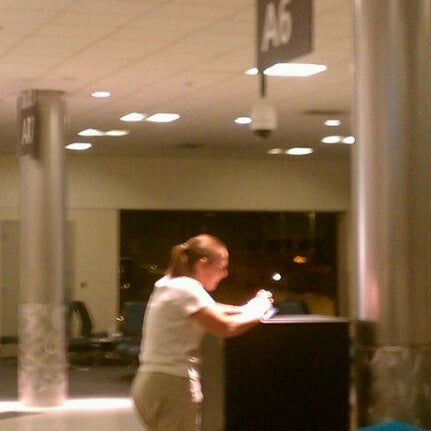 Photo taken at Gate A6 by Michael S. on 10/20/2011
