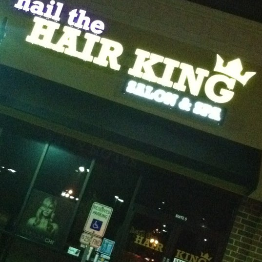 Photo taken at Hail The Hair King Salon & Spa by Travis M. on 10/20/2011
