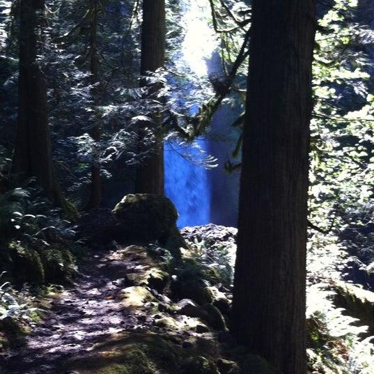 Photo taken at Wahclella Falls Trail by Louis H. on 9/20/2011