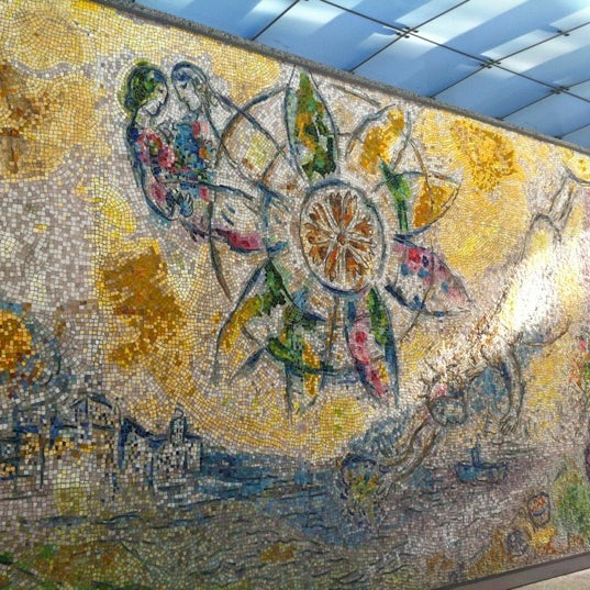 Chagall mosaic the four seasons the loop chicago il for Chagall mural chicago