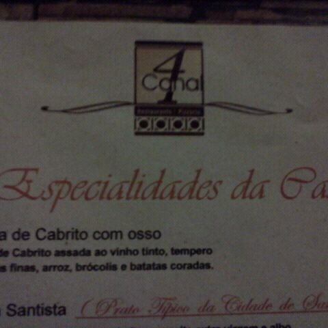 Photo taken at Canal 4 Restaurante e Pizzaria by Marcus P. on 1/18/2012