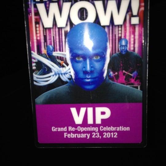 Photo taken at Blue Man Group at Universal CityWalk by Sean R. on 2/24/2012