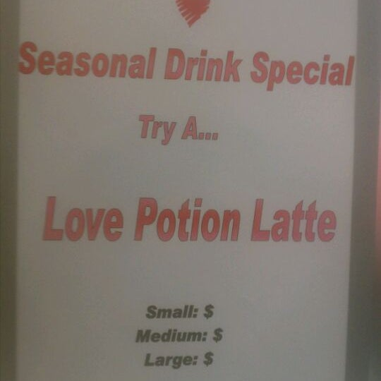 Try a love potion latte while we still have black cherry in stock! :)