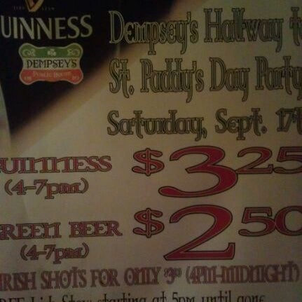 Photo taken at Dempsey's Public House by Eddie G. on 9/18/2011