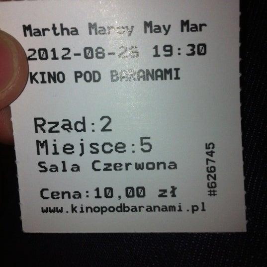 Photo taken at Kino Pod Baranami by Irek S. on 8/26/2012