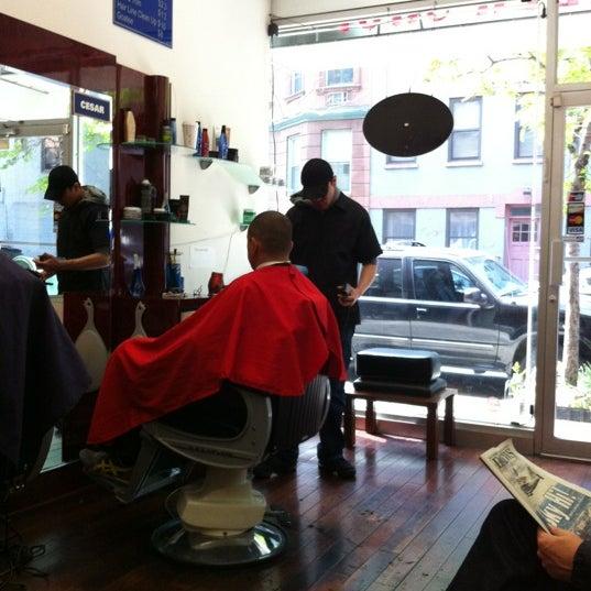 Photo taken at Manhattan Barber Shop by Brett L. on 4/28/2012