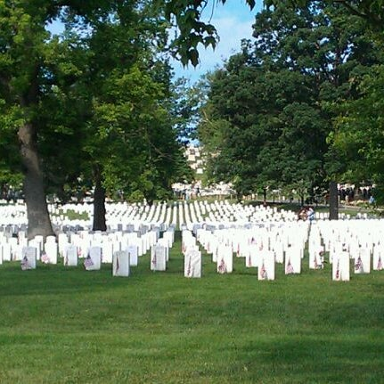 Photo taken at Arlington National Cemetery by Tiffany on 5/28/2012
