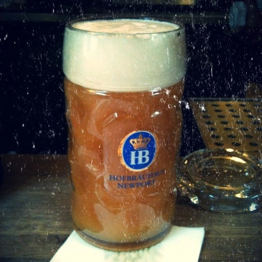 Photo taken at Hofbräuhaus Newport by Clayton C. on 8/20/2011