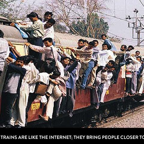 Mumbai locals are like the internet.
