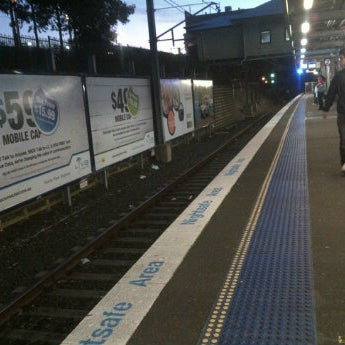Photo taken at Bankstown Station by Rifky A. on 4/27/2012