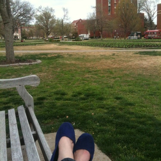 Photo taken at South Oval by Bekah G. on 3/15/2012