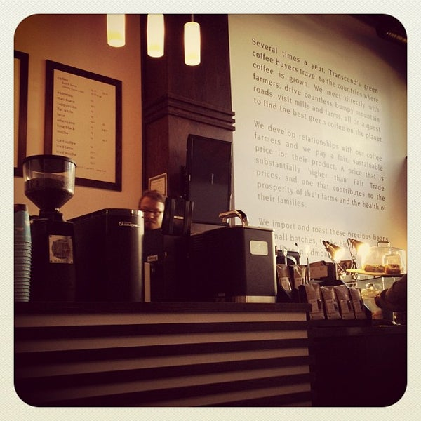 Photo taken at Transcend Coffee by Cindy N. on 9/12/2012