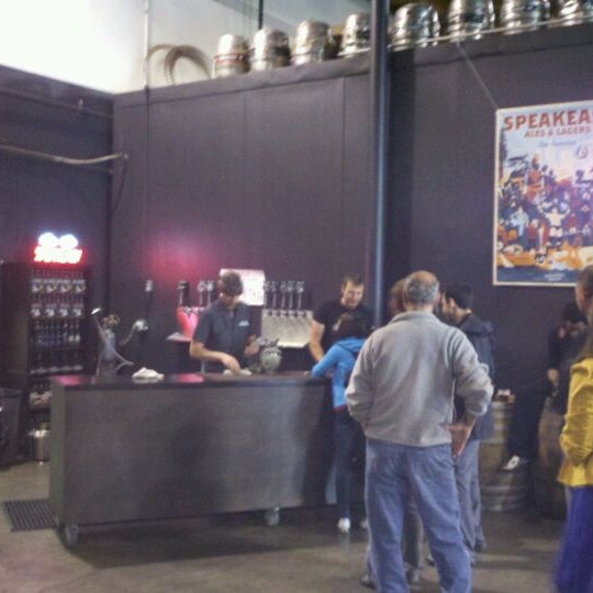 Photo taken at Speakeasy Ales & Lagers by Mike V. on 5/26/2012