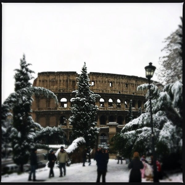 Photo taken at Piazza del Colosseo by Giuliano P. on 2/4/2012