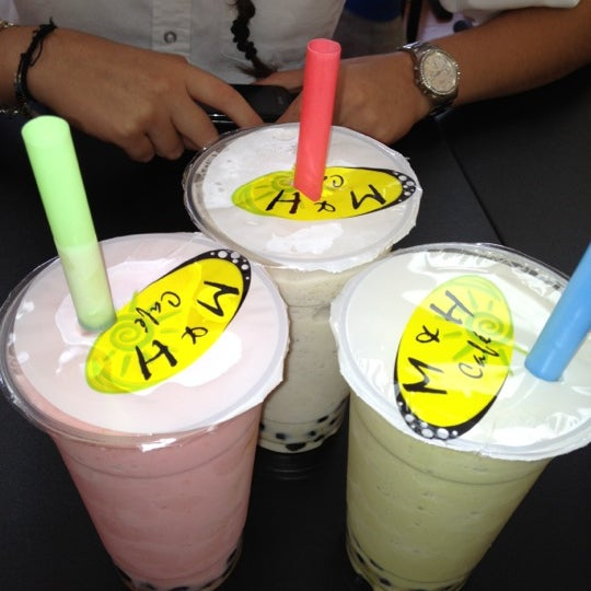 M H Cafe Bubble Tea Menu
