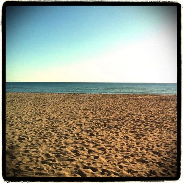 Photo taken at Platja de Calafell by Guillermo D. on 12/4/2011