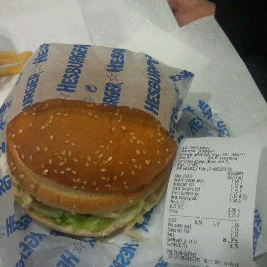 Photo taken at Hesburger by Raivis Z. on 11/20/2011