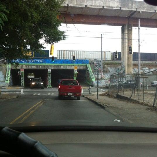 Photo taken at Krog Street Tunnel by Lovett D. on 5/14/2012