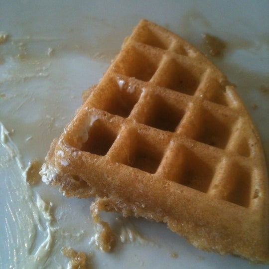 Make sure you order the waffle well done because my waffle was soggy. Good coffee though.