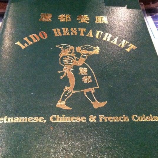 Lido Chinese Food Restaurant Menu