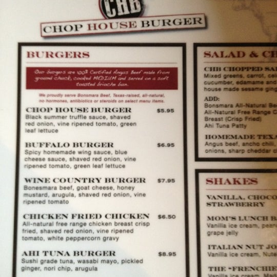 Photo taken at Chop House Burger by Juno S. on 7/7/2012