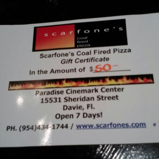 Photo taken at Scarfone's Coal Fire Pizza by Ginny T. on 8/12/2012