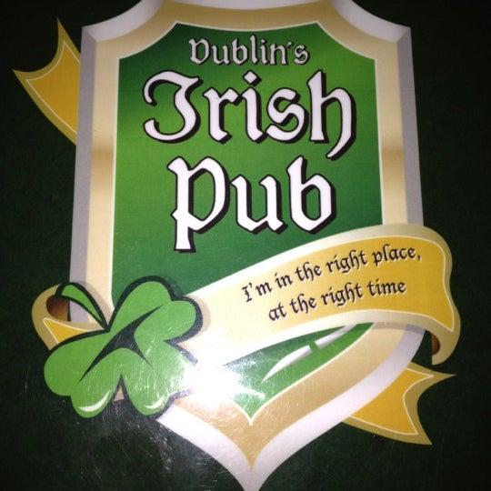 Photo taken at Dublin's Irish Pub by Ana Vic L. on 8/19/2012