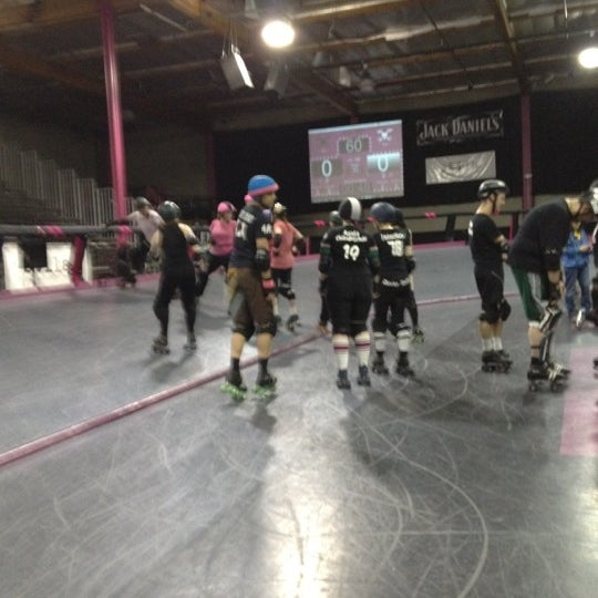 Photo taken at Doll Factory (L.A. Derby Dolls) by alex j. on 2/24/2012