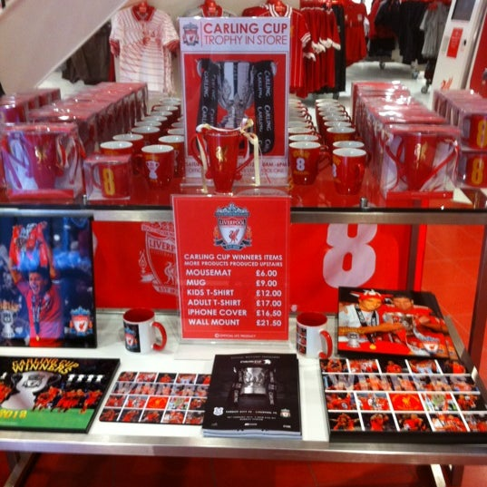 Photo taken at Liverpool FC Official Club Store by Floydsdad on 3/14/2012
