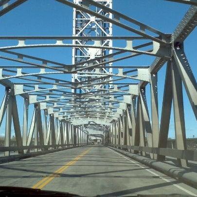 Photo taken at Rio Vista Bridge by Christy K. on 4/5/2012