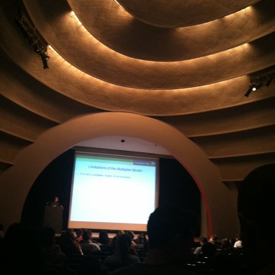 Photo taken at The New School Auditorium at 66W 12th by Hye Won L. on 2/14/2012
