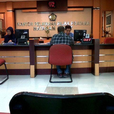 Photo taken at Kantor Pelayanan Pajak Pratama Mataram Barat by Anggi C. on 8/1/2012