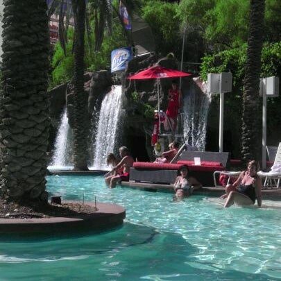 Photo taken at Flamingo GO Pool by Candice N. on 10/14/2011