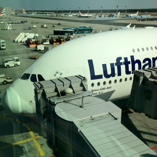 Photo taken at Gate A25 by Jesh S. on 3/22/2012