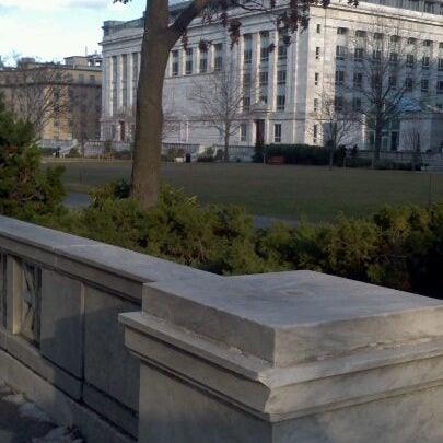 Photo taken at Harvard Medical School Quadrangle by Jenni W. on 1/24/2012