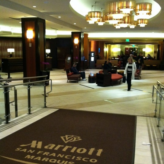 Photo taken at San Francisco Marriott Marquis by Christina H. on 3/20/2012