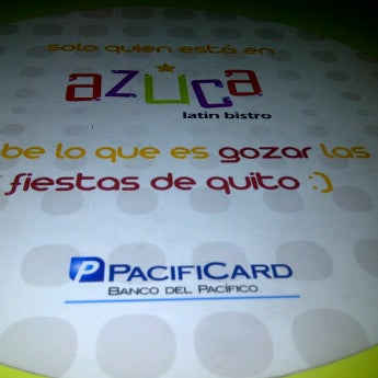 Photo taken at Azuca Latin Bistro by Mario G. on 12/18/2011
