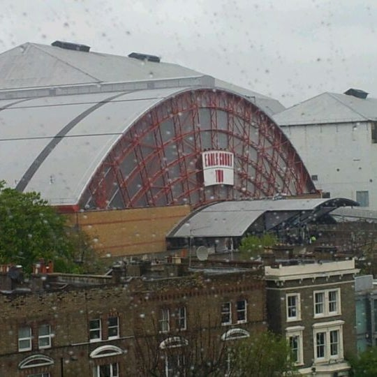 Photo taken at Earls Court Exhibition Centre by Markus F. on 4/25/2012