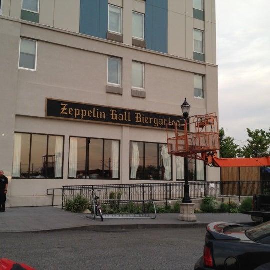 Photo taken at Zeppelin Hall Biergarten by Sw W. on 7/8/2012