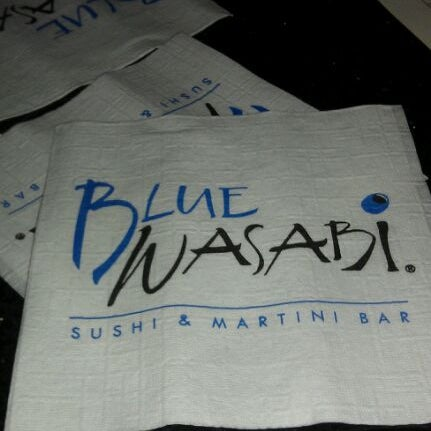 Photo taken at Blue Wasabi Sushi & Martini Bar by David B. on 1/8/2012