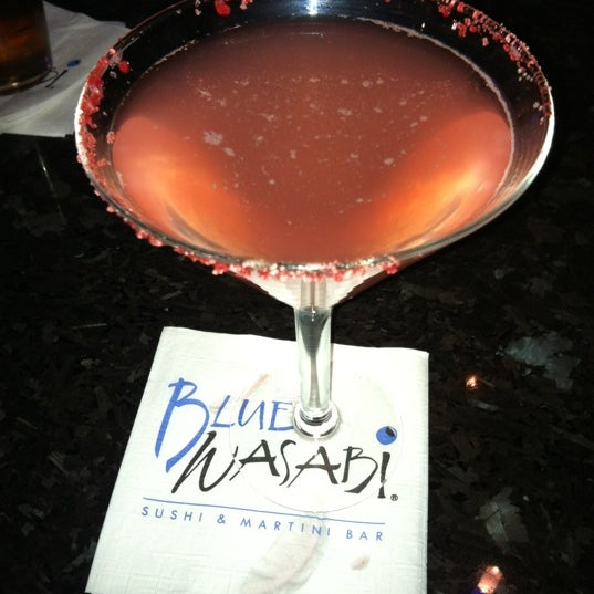 Photo taken at Blue Wasabi Sushi & Martini Bar by Jaime L. on 12/24/2011