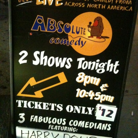 Photo taken at Absolute Comedy by editorscott on 10/29/2011