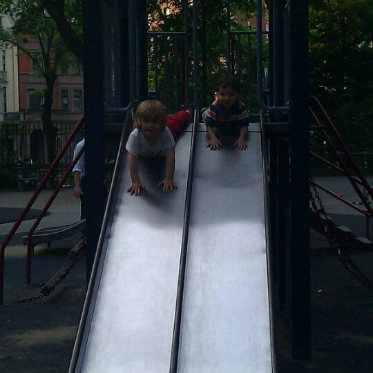 Photo taken at Central Park - Mariners' Gate Playground by Brian B. on 5/27/2011