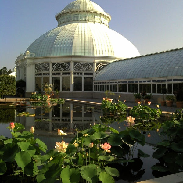 Photo taken at Enid A. Haupt Conservatory by Anthony F. on 10/9/2011