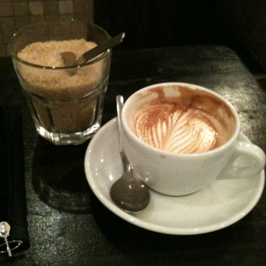 Photo taken at Flat White by David M. on 3/11/2011