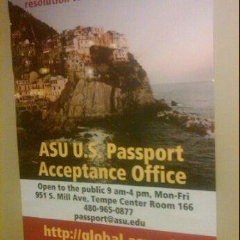 Photo Taken At Asu Passport Office By Across Arizona Tours On 12/14/2011